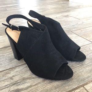 Express black peep toe heels 10